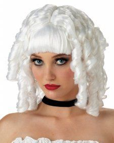 Old Fashioned Spiral piral Curl White Ghost Doll Costume Wig New Halloween Costumes, Halloween 2014, Highlighted Bangs, Morris Costumes, Spiral Curls, Straight Bangs, Wholesale Hair, Doll Wigs, Costume Wigs