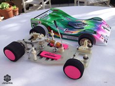 Vintage Associated RC12L restored roller + custom painted Masami tribute body #Associated