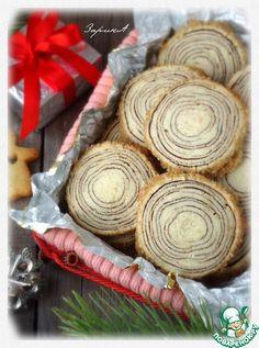 """Печенье """"Ствол дерева"""" - кулинарный рецепт"""