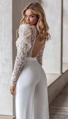 Classy Dress, Classy Outfits, Dress Outfits, Fashion Dresses, Evening Dresses, Prom Dresses, Long Sleeve Bridal Dresses, Low Back Dresses, Wedding Jumpsuit