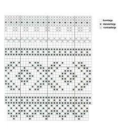 Marius genser variasjon hals Jacquard t Mosaic Patterns, Knitting Patterns, Crochet Patterns, Knitting Charts, Hand Knitting, Fair Isle Pattern, Fair Isle Knitting, Mitten Gloves, Crochet Projects