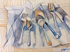 Художница Alisa Wolf Colored Pencil Artwork, Color Pencil Art, Art Sketches, Art Drawings, Typography Sketch, Sketchbook Inspiration, Pencil Illustration, Crayon, Art Tutorials