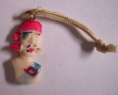 Pirate Celluloid Cracker Jack Charm by MDHcrafts on Etsy