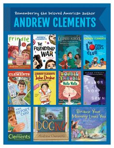 Andrew Clements Andrew Clements, Frindle, Walla Walla, Teachers Pet, Book Suggestions, What To Read, Author, Pets, Reading