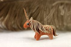 Horse Unicorn Pony Skulpture Figurine Art by DemiurgusDreams