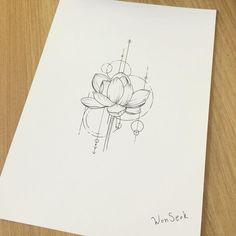 """""""Mi piace"""": 268, commenti: 3 - 타투이스트_원석 (@tattooist_wonseok) su Instagram: """" ∥ lotus tattoo desogn∥ 연꽃 도안∥           #illust #tattoo #design #wonseok #tattooist #lotus…"""""""