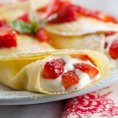 Strawberry White Chocolate Mousse Crepes by EvilShenanigans, via Flickr