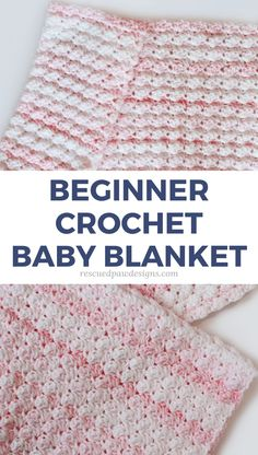Beginner Friendly Crochet Baby Blanket Pattern using the blanket stitch - Rescued Paw Designs # free crochet patterns for baby blankets easy Blanket Stitch Crochet Baby Blanket Pattern - Easy Crochet Crochet Stitches For Blankets, Crochet Baby Blanket Free Pattern, Crochet Baby Blanket Beginner, Crochet Blanket Patterns, Baby Patterns, Crochet Afghans, Easy Baby Blanket, Easy Crochet Baby Blankets, Crotchet Baby Blanket