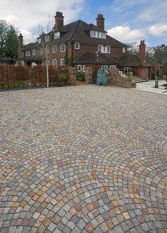 Paver Patterns, Driveway Design, Sidewalk, Interior, Diy, Home Decor, Paving Stones, Houses, Architecture