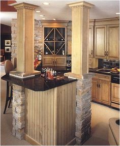 Dura Supreme Cabinetry Wet Bar / Entertainment Room Bar designed by Genesis Cabinet Co.