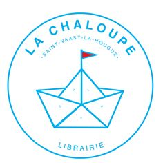 Logo de la librairie La Chaloupe à Saint-Vaast-la-Hougue. Pochette Cd, Design Graphique, Peace, Logo, Book Design, Atelier, Logos, Sobriety, World