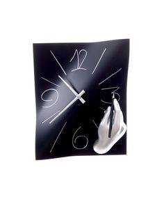 Horloge murale main noire - Chromatiko.fr