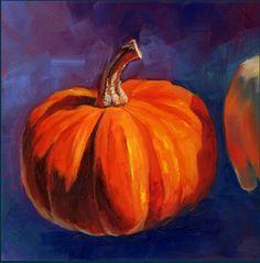 A Little Behind by Brenda Ferguson -- Brenda Ferguson Halloween Art, Halloween Pumpkins, Halloween 2017, Color Unit, Original Art, Original Paintings, Painting On Wood, Art For Sale, Still Life