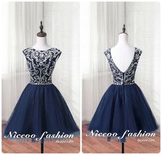 gorgeous Navy blue A-Line/princess Scoop Neck short/mini Tulle prom dresses with Open Back Beaded http://niceoo.com/products/16305273-gorgeous-navy-blue-a-line-princess-scoop-neck-short-mini-tulle-prom-dresses