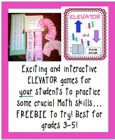 FREEBIE fun and engaging Elevator game with review of math facts to 20! Students will love trying to get their crazy elevator to the top floor while practicing math facts. High interest!