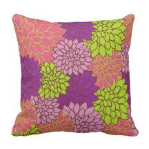 Floral background pattern throw pillow