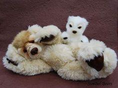Growling bear Jasper and Jo+by+SimBel+Bears