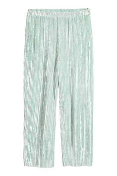 Pantalón de terciopelo - Verde menta - | H&M ES