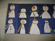 Christmas Crafts - See the source image Christmas Makes, Christmas Art, Winter Christmas, Winter Crafts For Kids, Art For Kids, Classe D'art, Winter Project, School Art Projects, Winter Art