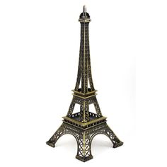 Miniature Paris Eiffel Tower Statue Model Ornament 12.6 Inch High