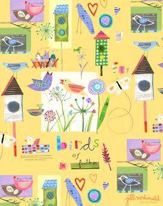 Bird Print by Jill McDonald Design