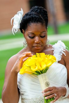 Natural Hair Wedding Style
