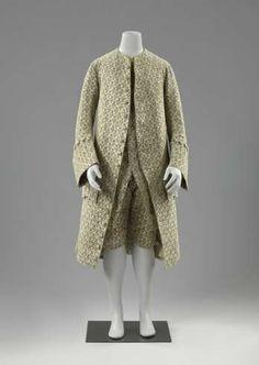 Completo: cappotto, violazioni e gilet, anoniem, c. 1740 - c. 1765 - Coprire! Capispalla 1630-1940 - Cosa succede - Rijksmuseum