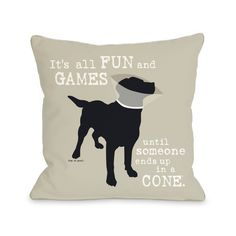 Strike up conversations while entertaining with this hilarious throw pillow. Made from woven polyester, this pillow will lighten the mood of any living space or bedroom.