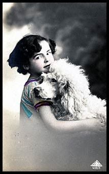 A girl and her beloved poodle