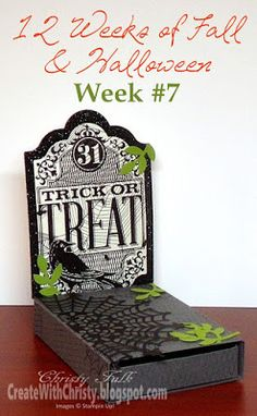 Stampin' Up! Witches' Night - Halloween Tomb Treat Box - Free, Illustrated, Step-by-Step Tutorial Included in the Post - Create With Christy: 12 Weeks of Fall & Halloween - Week #7 - Christy Fulk, Stampin' Up! Demo