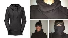 Make a cowl hoodie for staying warm in the winter or to throw on after a workout. This DIY hoodie project has a downloadable PDF pattern for the hood.