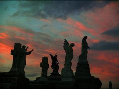 Sunset in Cemetery New Orleans