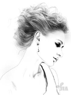 Love the hair in this sketch... It looks so real... :)