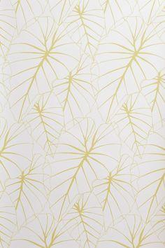 Papier-peint vinyle encollable motif floral jaune. Motif Floral, Name Cards, Decoration, Nook, Print Patterns, Wallpapers, Boutique, Drawings, Prints