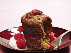 Beetroot and raspberry muffin