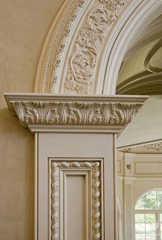 Molding detail. via:Showcase - European Inspired Kitchen