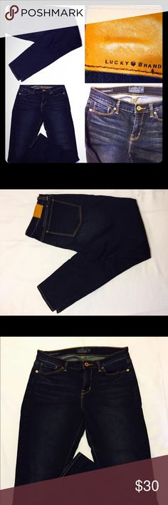 """SALE Lucky Brooklyn Skinny ankle jeans NWOT Brooklyn skinny ankle jeans. Size 8, inseam: 29, rise medium 13"""". Dark Rinse 2% super stretchy spandex. Selling these for my cousin. Feel free to ask questions. Lucky Brand Jeans Skinny"""