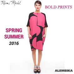 October is Breast Cancer Awareness Month and we just couldn't resist posting this Alembika​ bold printed dress from the Spring/Summer 2016 collection! #PinkThoughts #PinkOctober #SS16 #springfashion #BreastCancerWarenessMonth