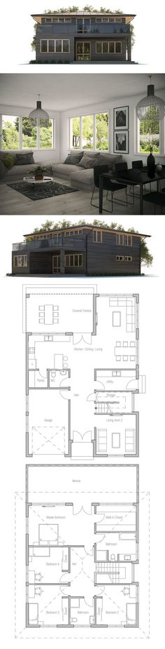 Home Plan Modern Home Design Pinterest House, Architecture and