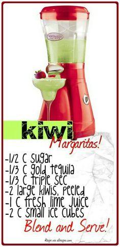 Kiwi margaritas!!