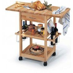 Carrelli portavivande di legno della cucina-immagine-Mobili per ...
