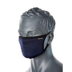 Máscara textil facial de tres capas reutilizable Lining Fabric, Cotton Fabric, Cara Fresca, Facial, Safety Mask, Microorganisms, Poly Bags, Black And Navy, Ear Loop