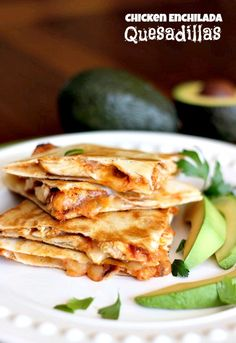 Chicken Enchilada Quesadillas .. two favorites in one place! And only 4 WW points per serving!!! LOVE THAT!