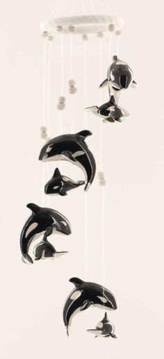 Orca Killer Whale Pair Jumping Wind Chime Garden Decor | eBay