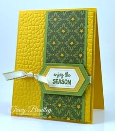 Create a quick and easy card using Stampin' Up! Stitched Nested Labels Dies and Night Before Christmas Designer Series Paper! Card Kit, I Card, Gold Ribbons, Embossing Folder, Before Christmas, Creative Cards, Die Cutting, Bird Feathers, Stampin Up Cards