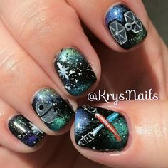 Simple, beautiful design for Star Wars nails