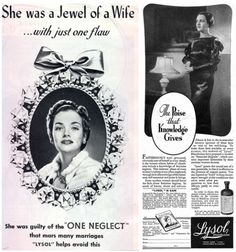 The Secret Life of Vintage Lysol-Brand Douche Ads (click thru for analysis)