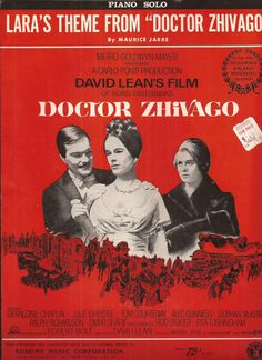 Lara's Theme from Doctor Zhivago, Vintage Sheet Music, Movie Theme Song, Academy…