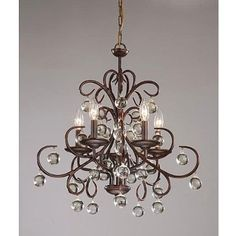 Amazon.com: Modern Dark Amber Bellora Style Crystal Chandelier Pendant: Home Improvement