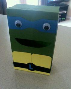 Tartaruga Ninja caixa de sapato